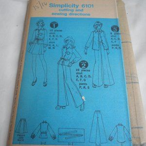 Vintage 1970s Simplicity Size 15/16 6101 pattern